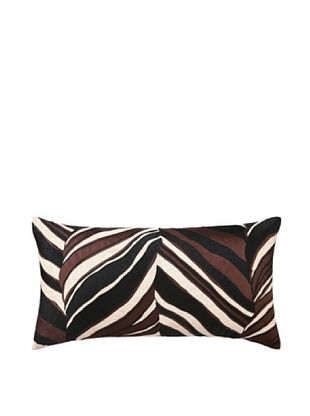 80% OFF Trina Turk Tiger Leaf Embroidered Pillow (Brown)