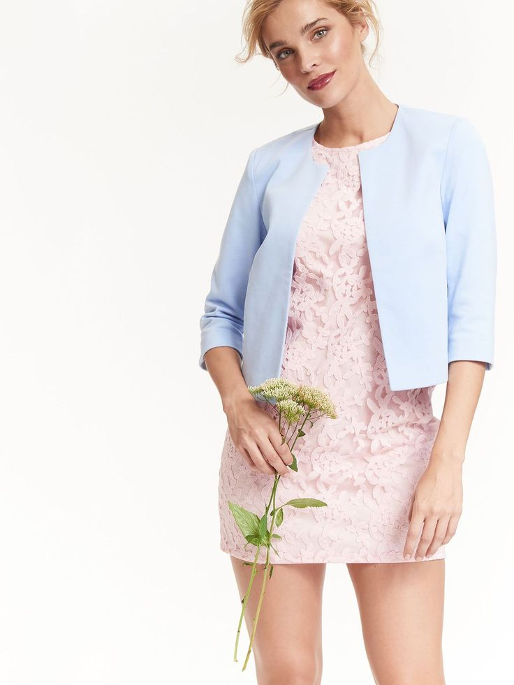 Top Secret różowa koronkowa krótka sukienka mini pink lace dress wedding
