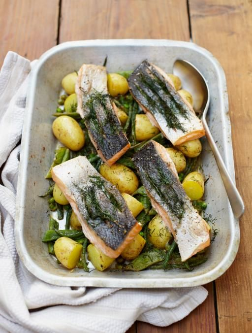 Summer tray-baked salmon | Jamie Oliver | Food | Jamie Oliver (UK)