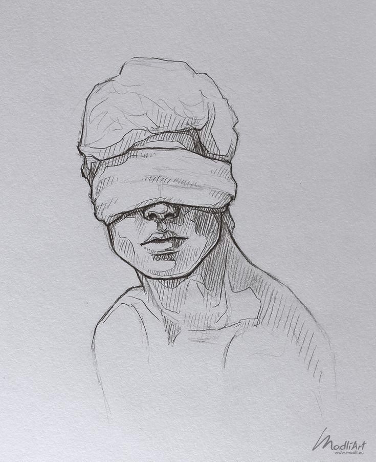 Meine Skizzenbuchkunst I Dreamy Blindfolded Drawing Guy I Cute Sketch I Sketchy Art I …