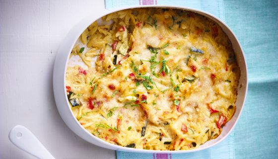 Gratin van risoni pepers en courgettes met boursin cuisine foodies pinterest pasta - Courgette boursin cuisine ...