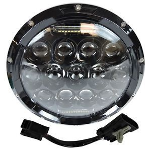 """1 7 motocicleta negro proyector daymaker hid bombilla led faro para harley - Categoria: Avisos Clasificados Gratis  Estado del Producto: NewOne Brand New Black 7"""" LED Round Daymaker Projector Headlight70Watt HighLow BlackFree 13 day Priority Shipping from US LocationComes with older and newer style harness for 20142016 Harley'sSome older touring bike will need adaptor ring 1 year warranty Condition: 100 brand new,high quality Super bright light 7"""" round LED HiLow headlight beam Unversal…"""