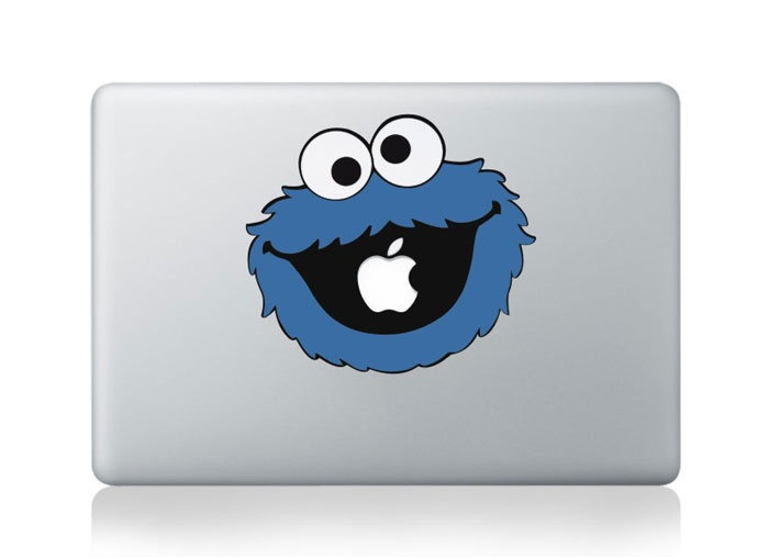 Cookie monster mac decals macbook stickers apple skins apple mac sticker for macbook pro