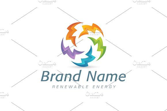 For sale. Only $29 - circle, energy, sharp, cycle, power, abstract, ring, five, spiral, electricity, lightning, storm, bolt, vortex, razor, alliance, thunder, saw, synergy, whirl, sun, colorful, renewable, cooperation, swirl, logo, design, template,