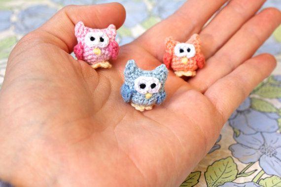 Amigurumi Owls Kawaii Miniature Crochet by TheBittiestBaubles, $7.50