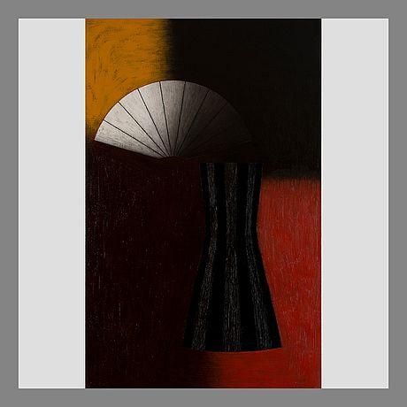 Lauri Laine: Dark figure, 2006, oil on canvas, 170x110 cm - Bukowskis