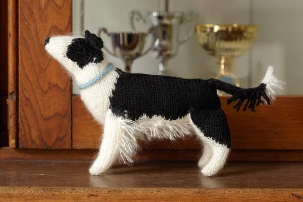 knitted border collie