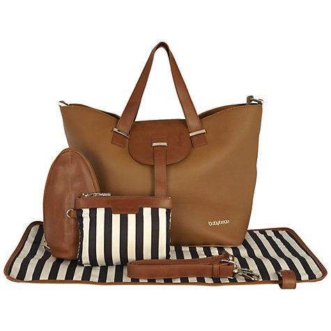 THIS IS MY FAVOURITE! It's a bit on the [very] pricey side, however.. --> Buy BabyBeau Ellie Leather Changing Bag, Brown Online at johnlewis.com