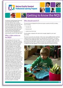 NQS PLP e-Newsletter No.69 - This document acts as a supporting guide for our new video series titled Getting to know the NQS http://wp.me/p2wNWe-14O