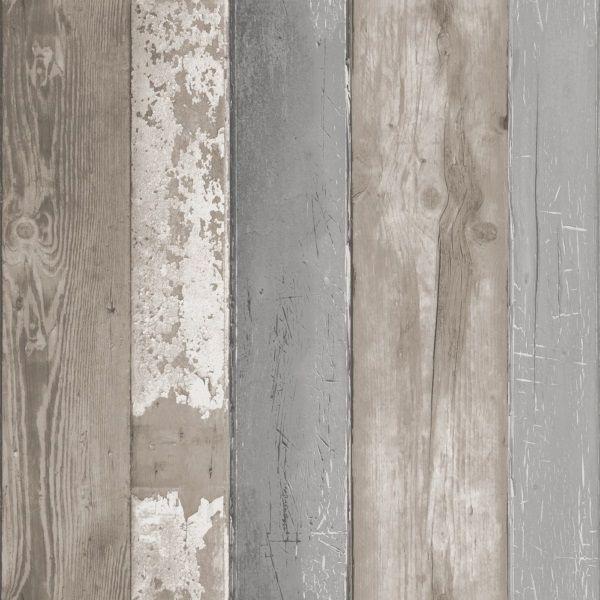 vtwonen Vliesbehang 10 m x 52 cm - Natural Wood