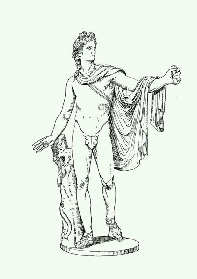 apollo Greek Goddess 39 Coloring