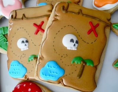 Pirate Map Cookies by .Oh Sugar Events