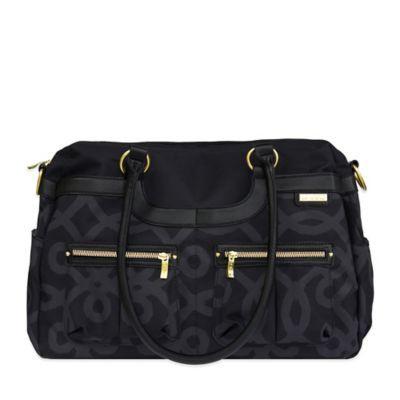 JJ Cole® Satchel Bag in Black & Gold - BedBathandBeyond.com