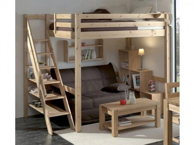 les 25 meilleures id es de la cat gorie lit mezzanine sur. Black Bedroom Furniture Sets. Home Design Ideas