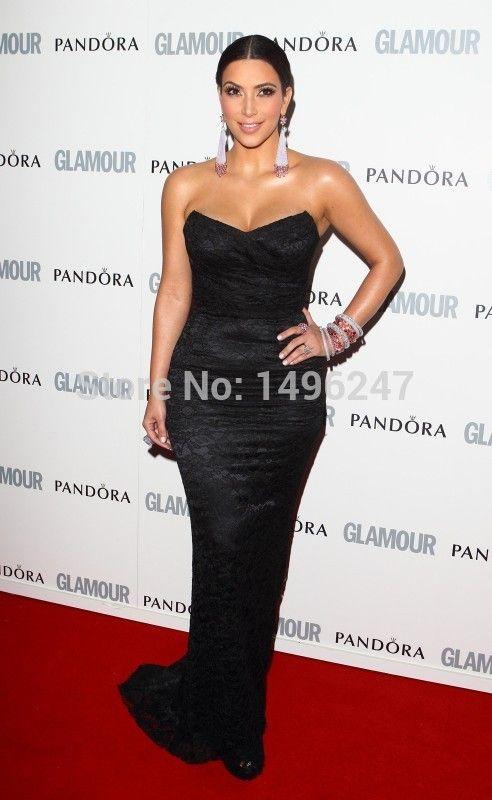 Модные черные кружева русалка вечерние платья милая чай длина модест канун нового года платья Большой размер платья знаменитости