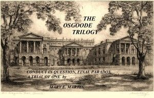 "NUMBER 3 FINAL PARADOX, the second in THE OSGOODE TRILOGY  This is an etching of the Law Courts, Osgoode Hall, in Toronto. In Final Paradox, Archie Brinks, a ""prominent"" business man is shot in open court as he battles for the Elixicorp shares which everyone is hunting for. READ MORE http://maryemartintrilogies.com/final- paradox/ and BUY the novel at www.http://www.amazon.com/author/maryemartin"
