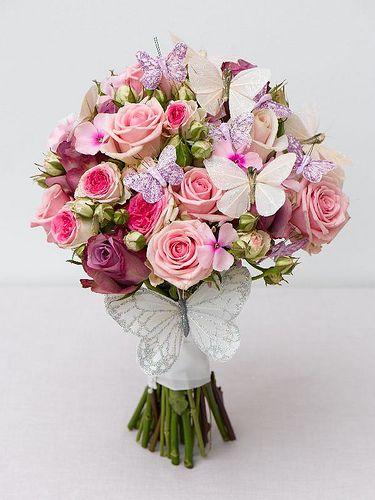 Trimmed Butterfly Wedding Bouquet