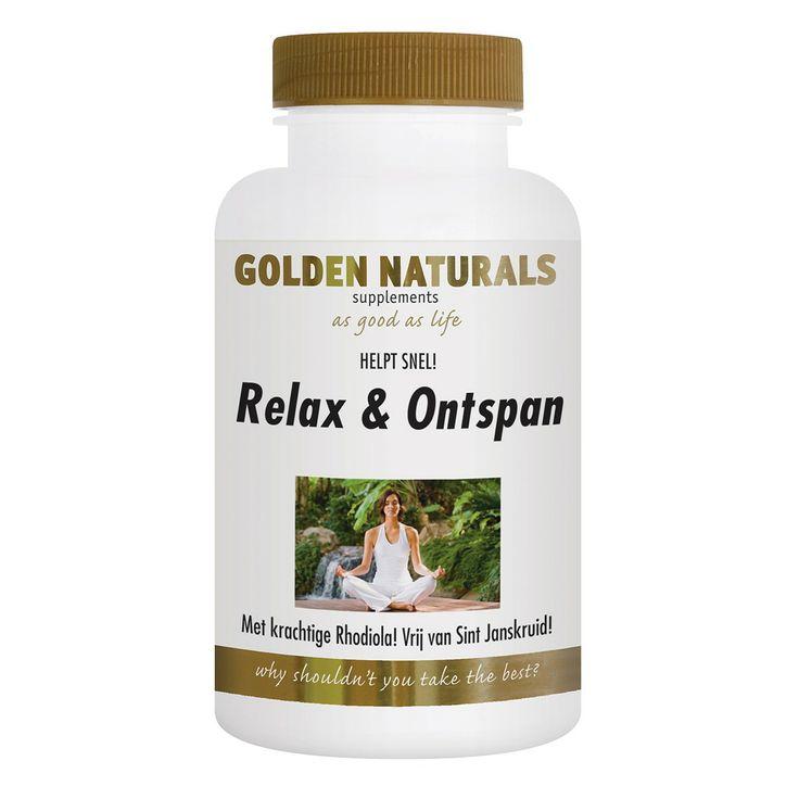 Golden Naturals Relax & Ontspan heeft een helpende werking bij een somber en neerslachtig gevoel.