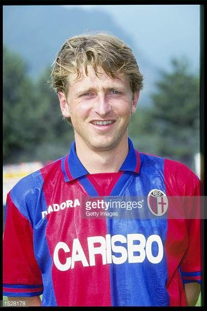 A portrait of Giancarlo Marocchi of Bologna taken during the club photocall Mandatory Credit Allsport UK