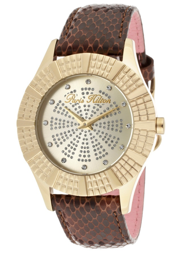 Price:$59.99 #watches Paris Hilton PH13103JSG-06, With designs that embody the effortlessly chic and carefree nature of Paris herself, the Paris Hilton timewear collection offers trend setting designs to suit any occasion.