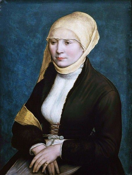 1520 Hans Holbein the Younger (1498-1543) Probably a portrait of Elsbeth Schmid (nee Binenstock), the Artist's Wife - married 1519 in Basel