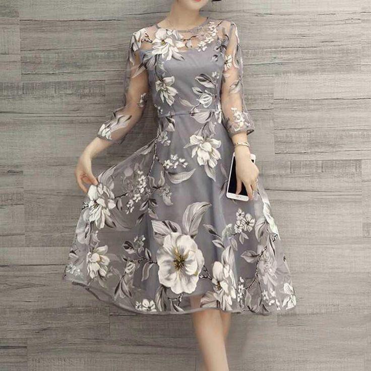 Women's Summer Chiffon Long Sleeve Party Evening Cocktail Maxi Long Dress