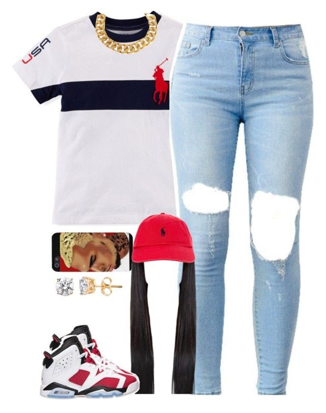 """Polo"" by lulu-foreva ❤ liked on Polyvore featuring Yves Saint Laurent, Retrò and Polo Ralph Lauren"