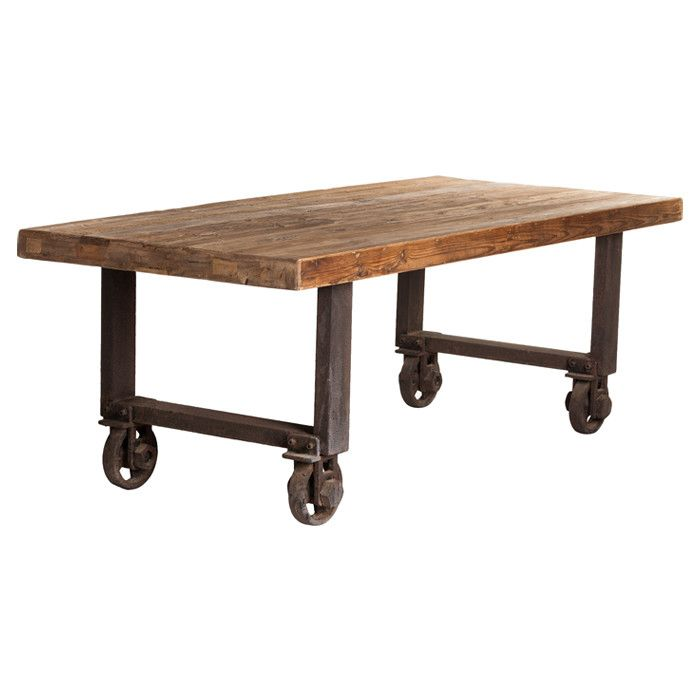 Add An Industrial Chic Touch To Your Dining Room With This Natural Pine  Wood Table