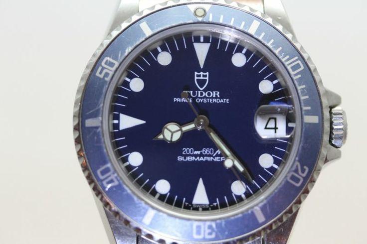 Rolex Tudor Submariner 75090 Midsize 200M BLUE DIAL with boxes!