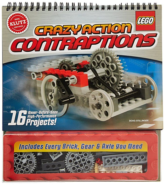 Klutz Lego Crazy Action Contraptions Craft Kit Cool Toys Lego Legos