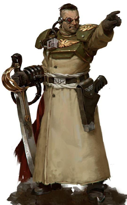 Imperial Guard - Warhammer 40k - Astra Militarum - Cadian Shock Troops - Officer - Power Sword