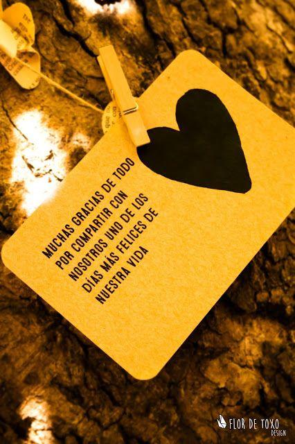 """Invitación """"Craft lovers"""", versión DIY: detalle de la tarjeta de agradecimiento"""