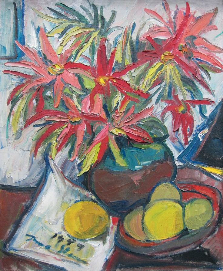 'Still Life with Lillies', Irma Stern, 20th c. | travelandtradesouthafrica-art