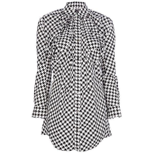 JUNYA WATANABE COMME DES GARCONS VINTAGE houndstooth shirt ($656) found on Polyvore