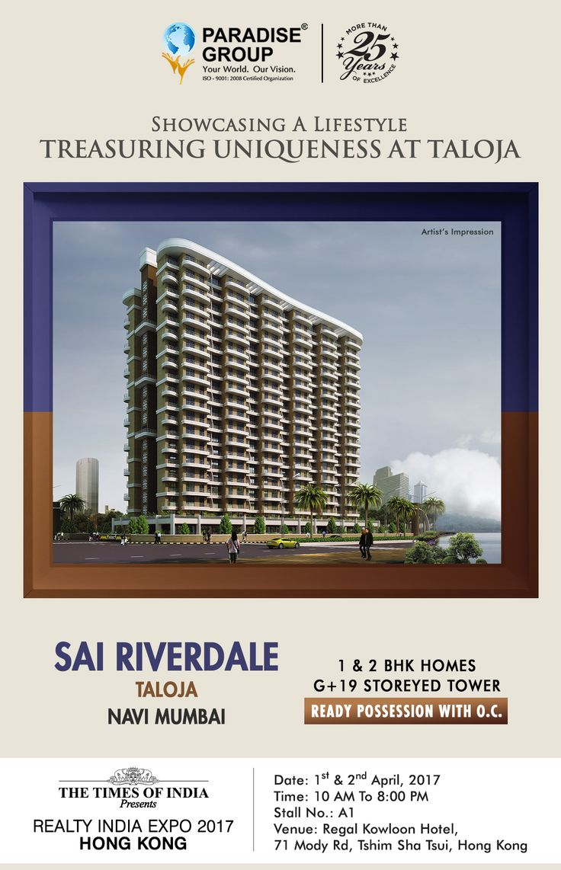 The Times of India Presents #RealtyIndiaExpo2017HongKong www.paradisegroup.co.in Contact: 022 2783 1000  #RealEstate  #TOI #NaviMumbai