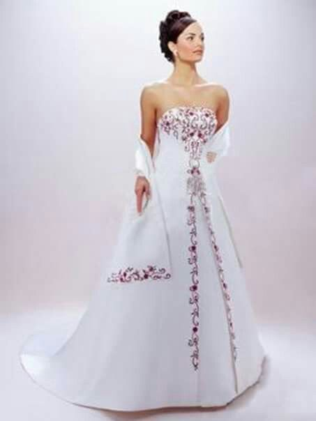 33 best color accented wedding dress styles images on Pinterest ...