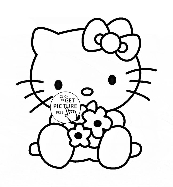 free coloring pages for girls - Color Pages Girls Kitty