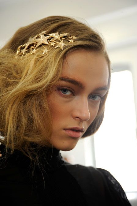 The Dreamiest Hair Accessory in History: The Precious Falling Star Barrette at the Fall 2012 Rodarte Show