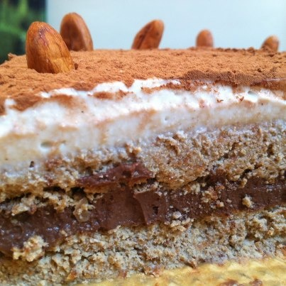 Chocolate Coconut Cake Almond