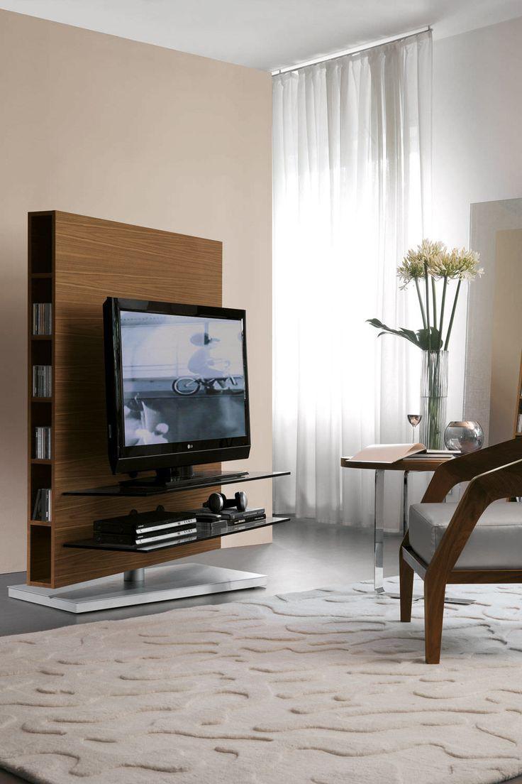 Contemporary TV cabinet / rotating - MEDIACENTER by T.Colzani - Porada
