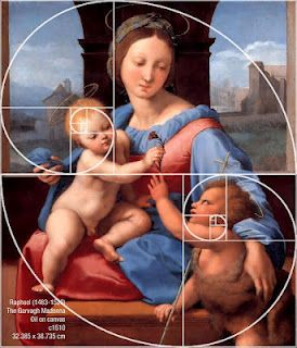 fibonacci spiral applied to great art.... there's a reason this art speaks to us on a fundamental level.