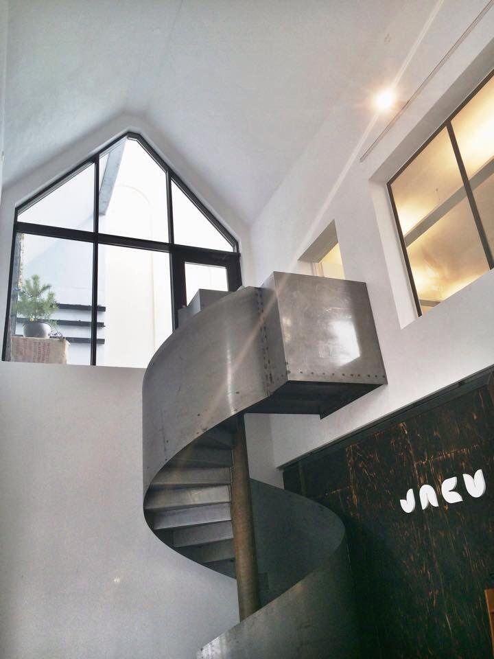 Jacu Coffee Roastery in Ålesund,Norway  #jacu #coffee #architecture #design #shop #norway #ålesund #logo #roastery