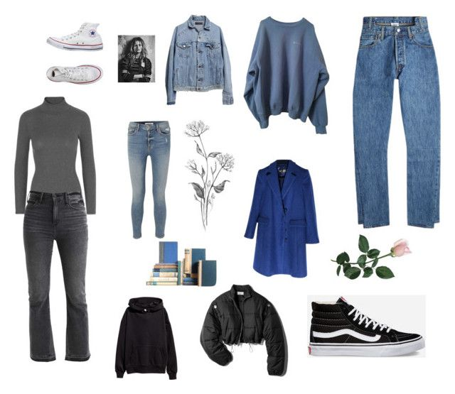 """""""Untitled #11"""" by sofiabaaima ❤ liked on Polyvore featuring Abercrombie & Fitch, Vetements, Vans, Converse, Armani Jeans, 3.1 Phillip Lim, GRLFRND and AMIRI"""