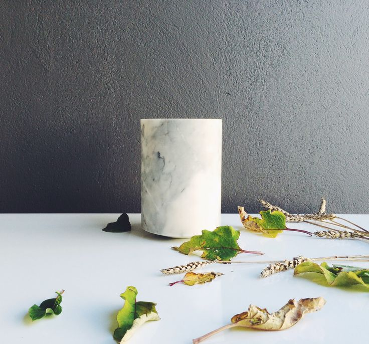 Excel My Belle marmor vase – Stor hvid - Tinga Tango Designbutik