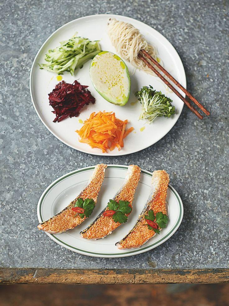 Sesame Seared Salmon | Fish Recipes | Jamie Oliver