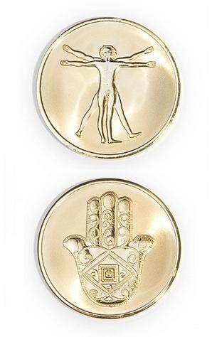 Mi Moneda Coin Large Gold Plated DaVinci
