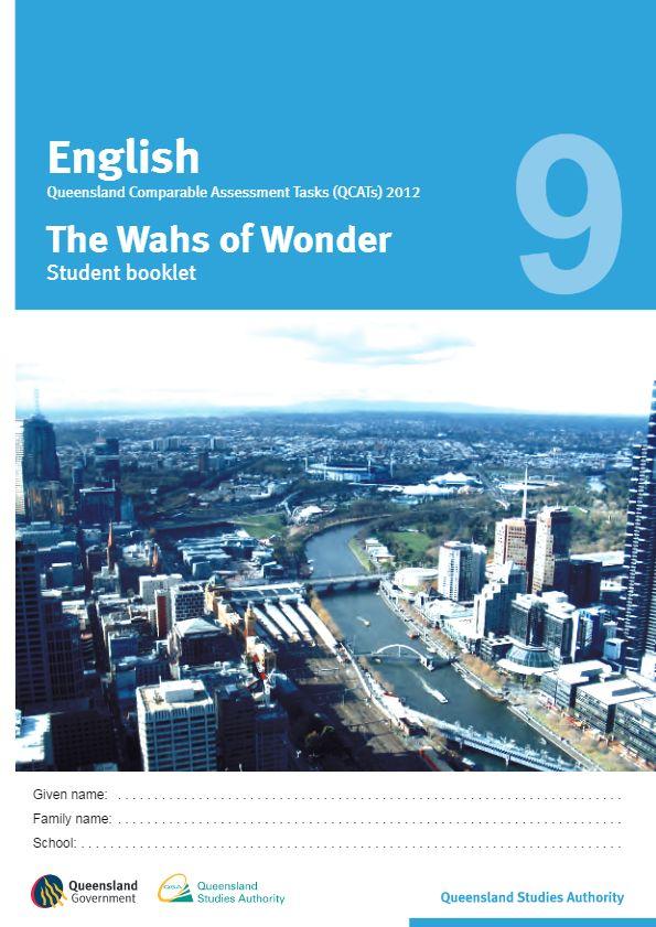 Year 9 English - QCAT 2012