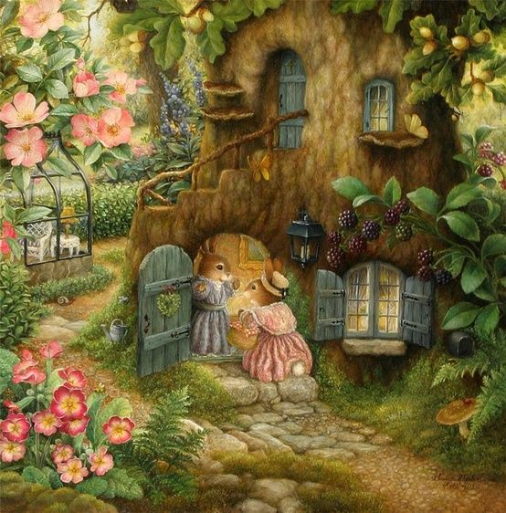 Holly Pond Hill world. I LOVE to look at the art of Susan Wheeler......