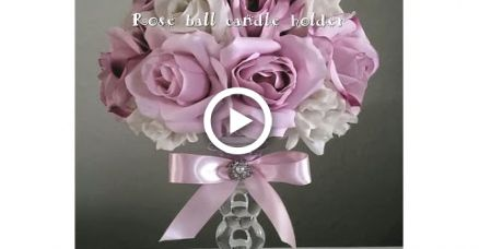 DIY | MULTI COLOR ROSE CRYSTAL CANDLE HOLDER | WEDDINGS, MOTHERS DAY, SPECIAL EVENTS