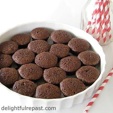 Brownie Bites - Chewy But Not Gooey / www.delightfulrepast.com